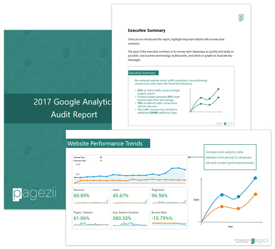our google analytics audit report template for digital marketers
