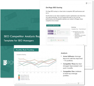 SEO Competitor Analysis Template Preview Image