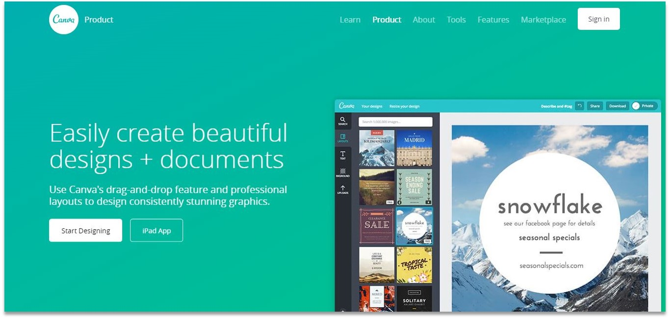 Canva blogging tools for beginners