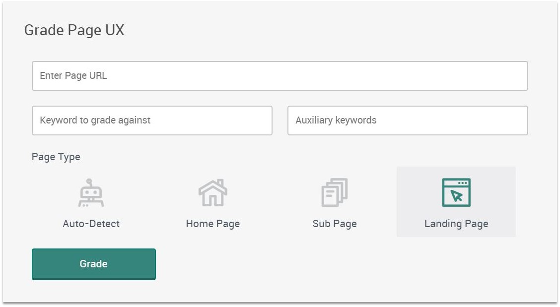 Landing Page Usability Pagezii UX Grader