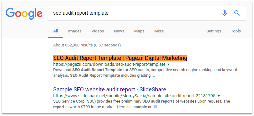 Page title in action 2 landing page analysis