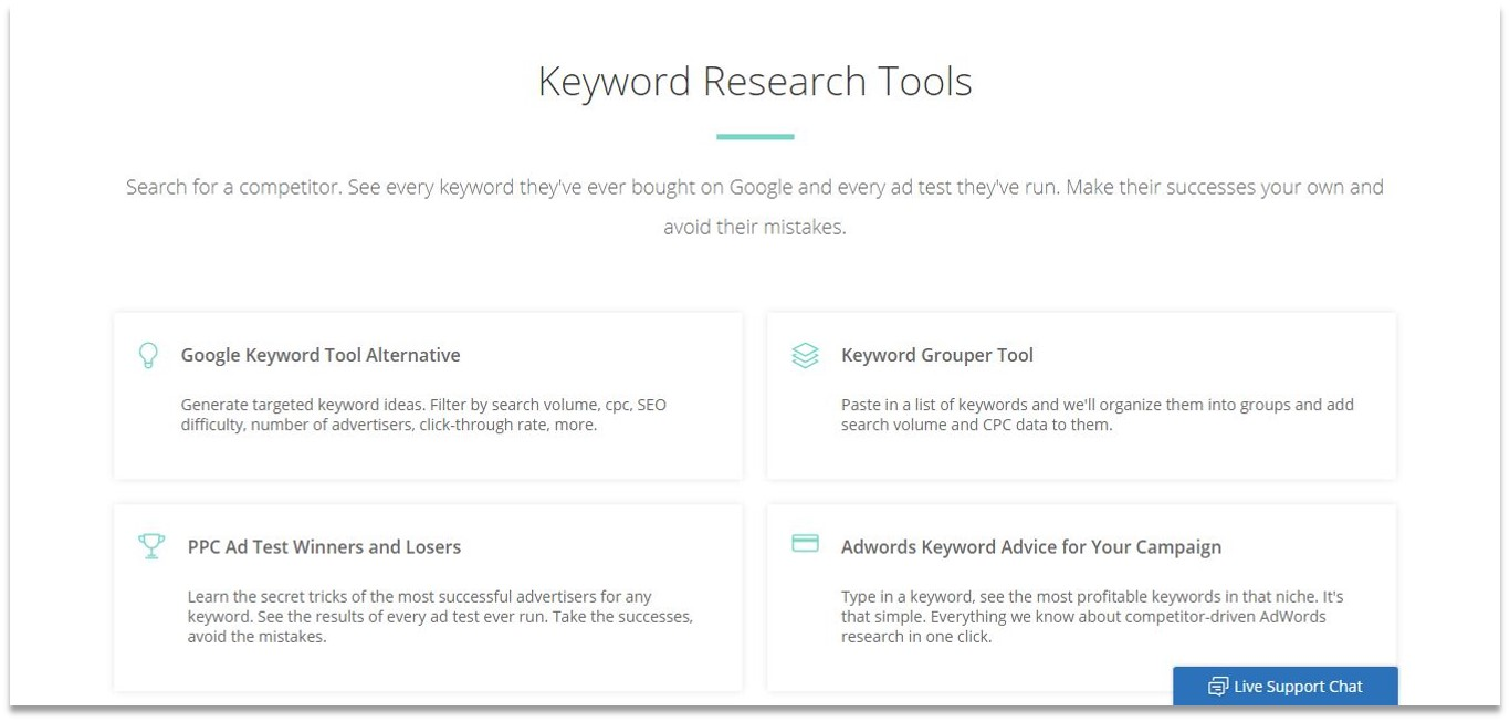 Spyfu blogging tools for beginners