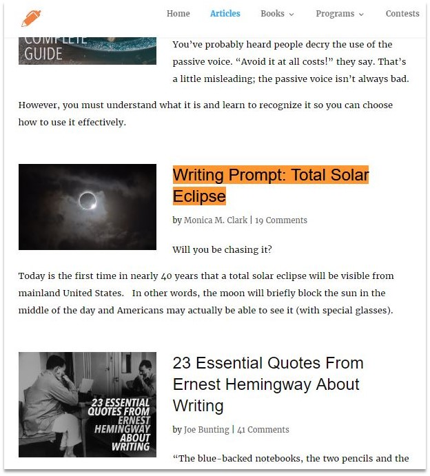 easy blogging tips from experts the write practice example