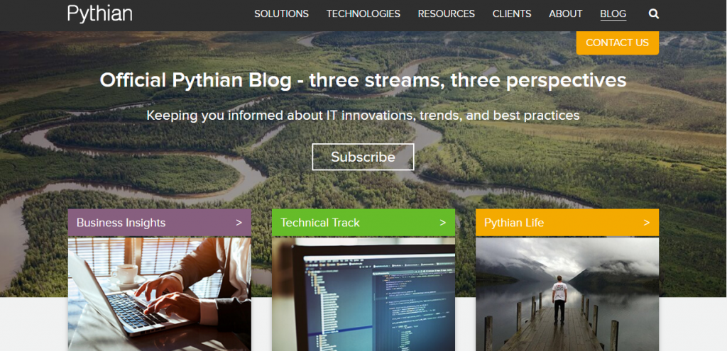 Pagezii-Top-Blogs-August-Pythian-Blog-Page