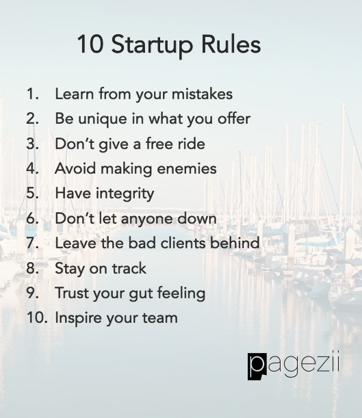 10 startup rules for business success