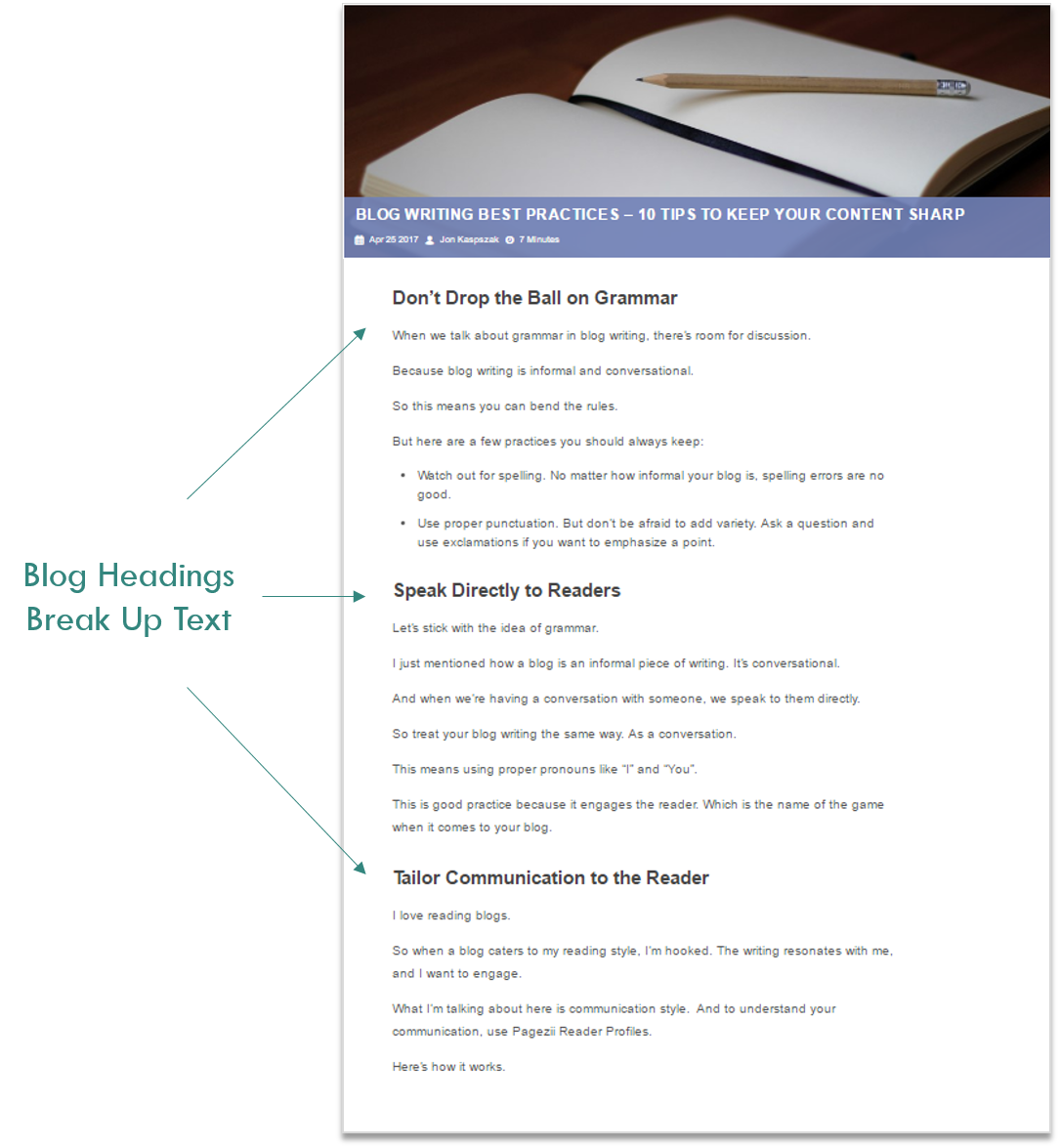 Blog Headings Pagezii Blog Example Headings Break Up Text