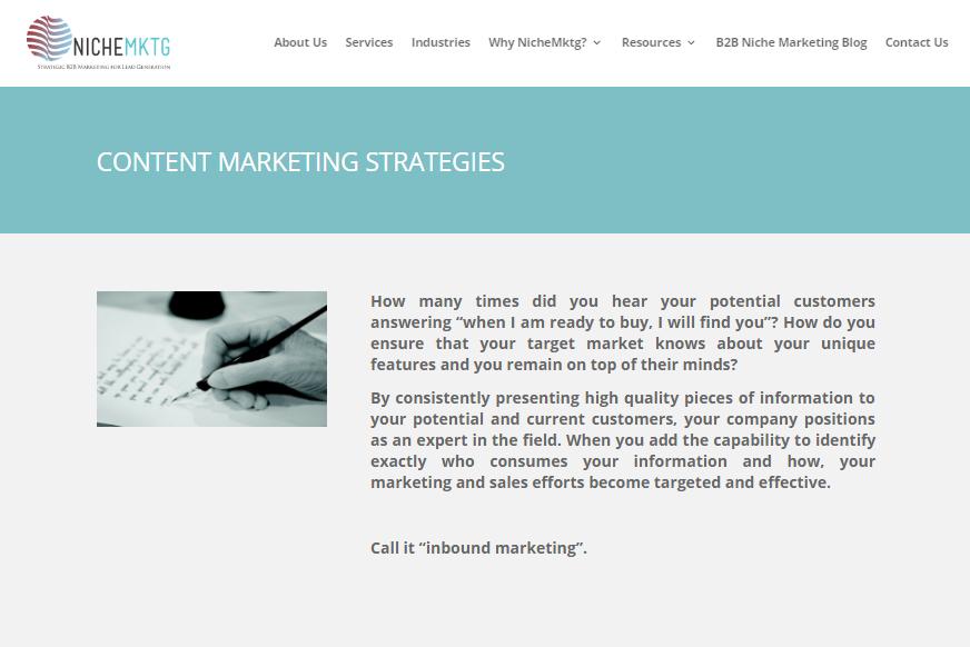 content marketing hotshots NicheMktg