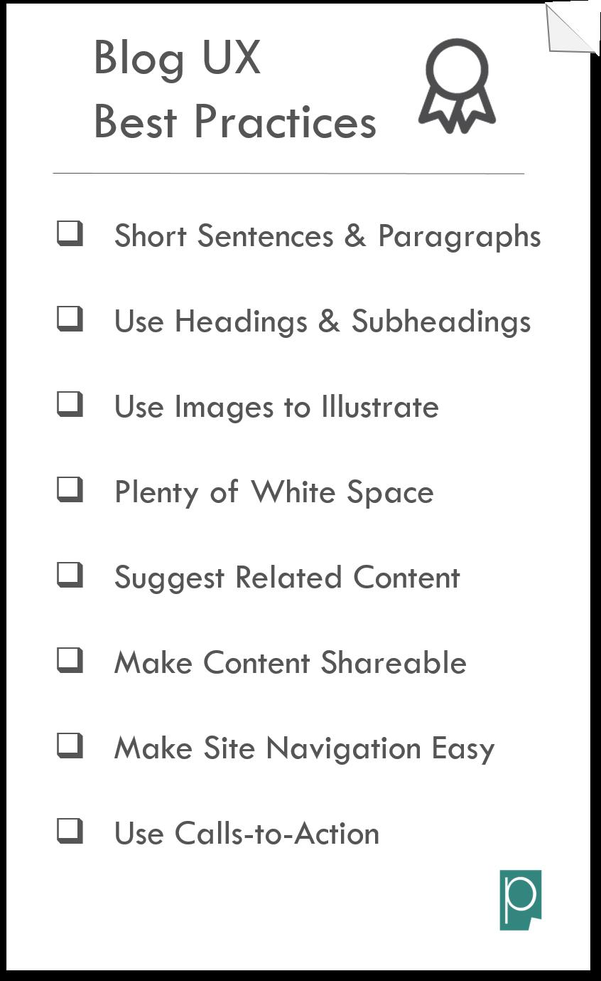 Blog UX Best Practices Blog UX Checklist Pagezii Blog