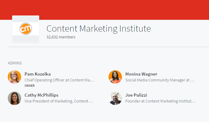 LinkedIn Marketing Groups Content Marketing Content Marketing Institute