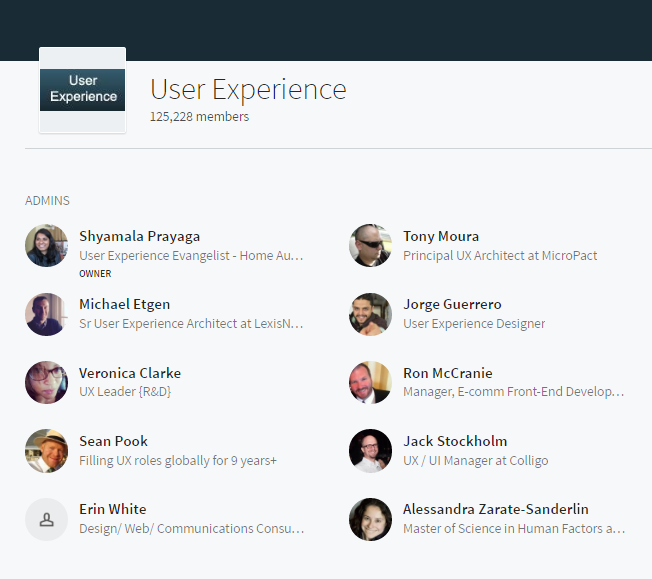 LinkedIn Marketing Groups UX Design User Experience