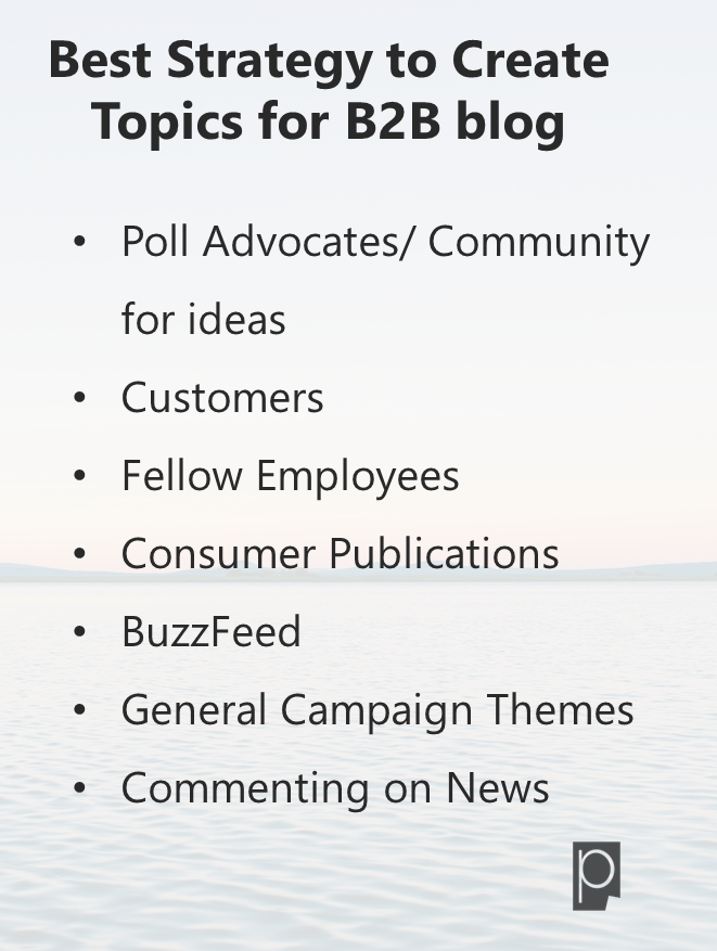 Best Strategy to create Topics for B2B Blog-Pagezii Feature