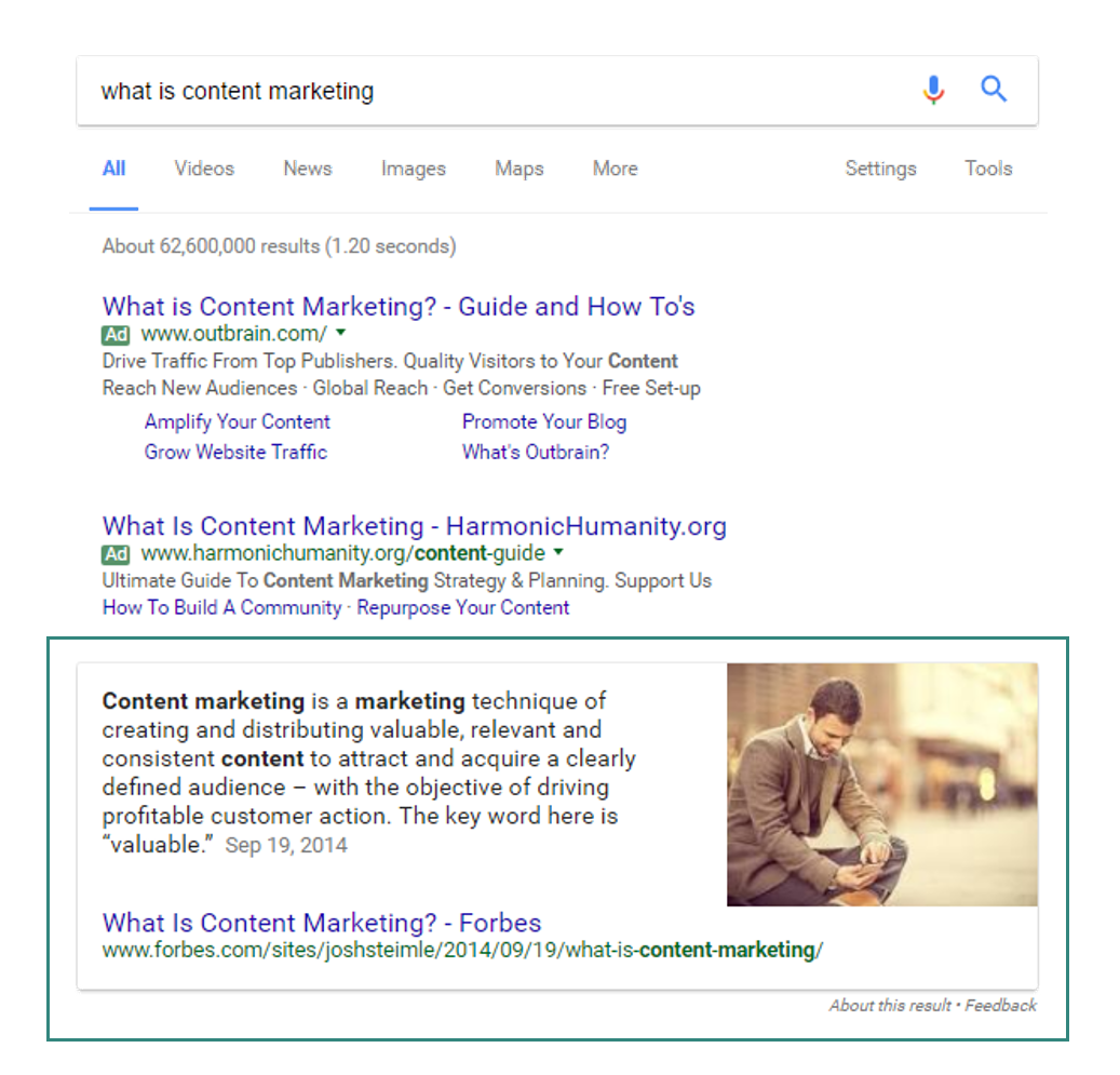 Pagezii Enterprise SEO Featured Snippet Example
