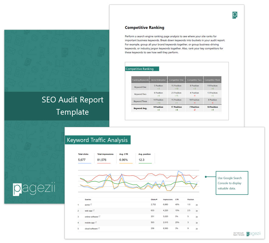 Pagezii SEO Audit Report Template