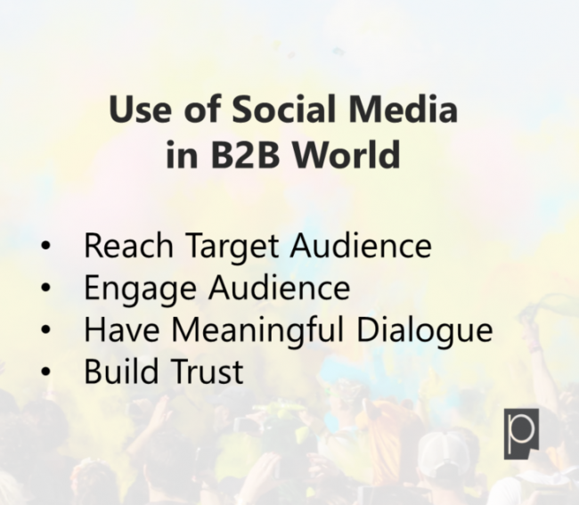 Use of Social Media in B2B World- Pagezii