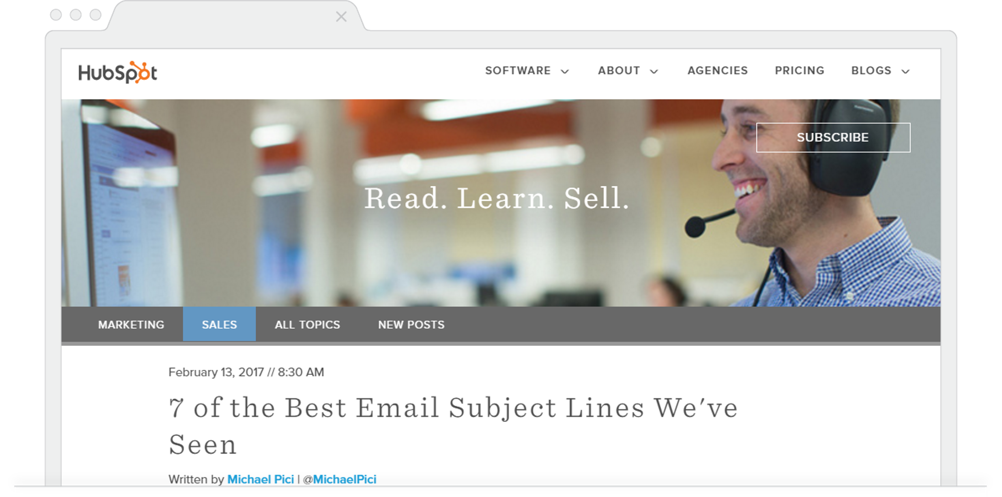 HubSpot 7 Best Email Subject Lines Michael Pici