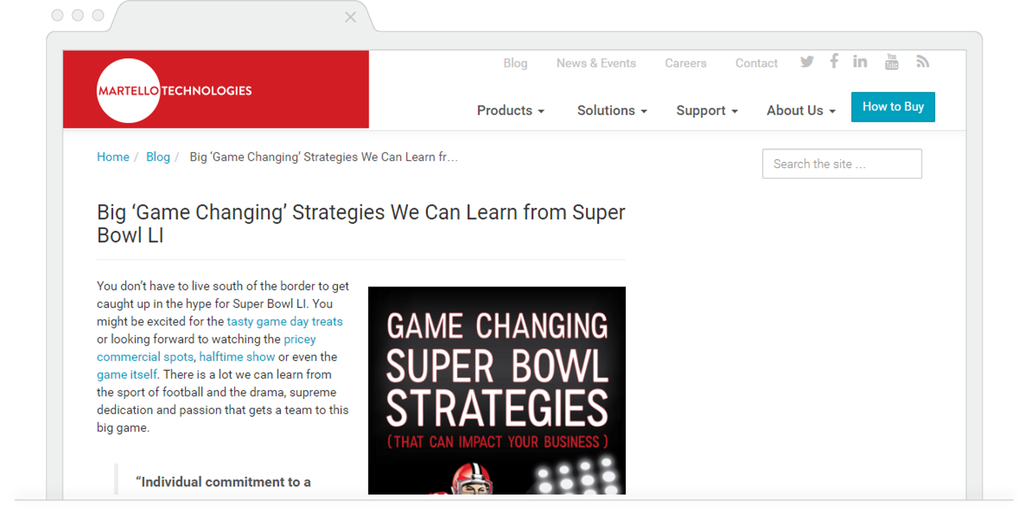 Martello Technologies Super Bowl Game Changing Strategies