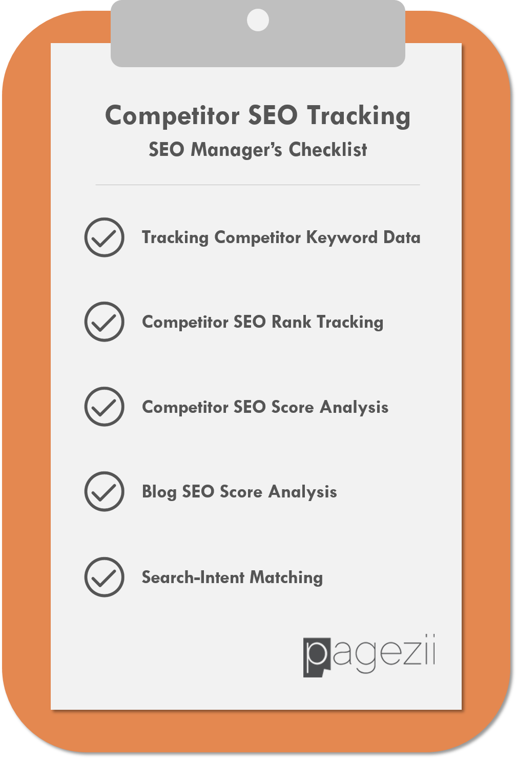 Competitor SEO Tracking SEO Managers Checklist Pagezii SEO Blog