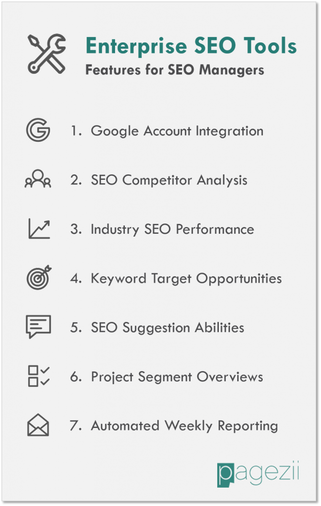 Enterprise SEO Tools Features List for SEO Managers Pagezii SEO Analysis Tool