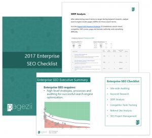 Enterprise SEO Tools Pagezii Enterprise SEO Checklist Download Resource