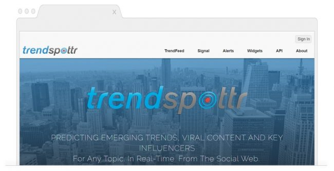 Social Media Analytics Tools-TrendSpottr