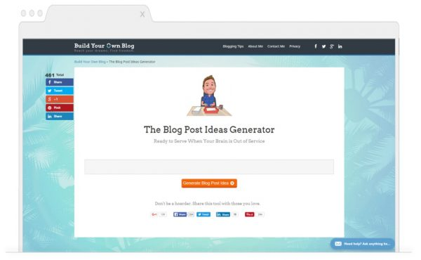 Topic Generating Tools for Bloggers-Build-your-own-blog