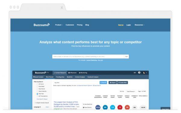 Topic Generating Tools for Bloggers-Buzzsumo