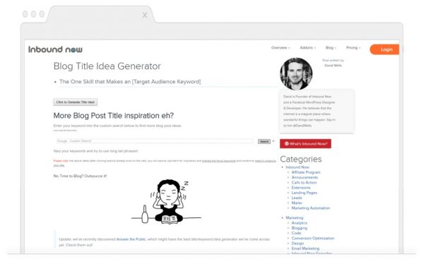 Topic Generating Tools for Bloggers-Inbound now
