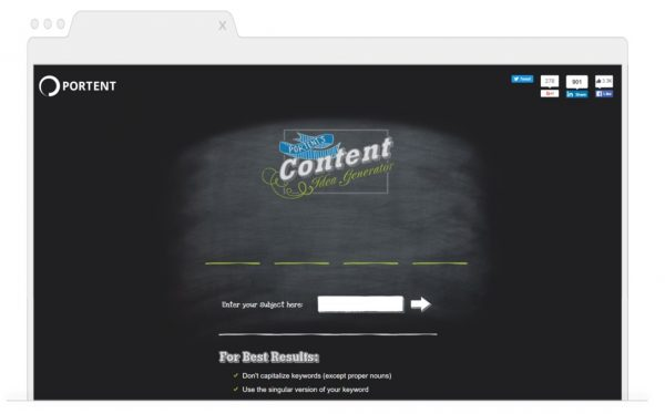 Topic Generating Tools for Bloggers-Portent