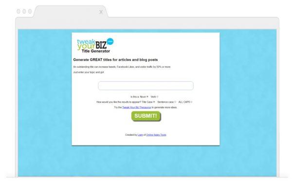 Topic Generating Tools for Bloggers- Tweak Your Biz Title Generator