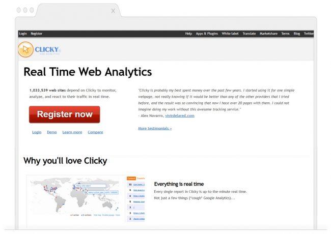 web analytics tools- Clicky