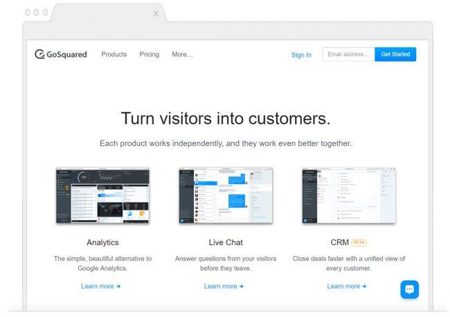 web analytics tools- GoSquared
