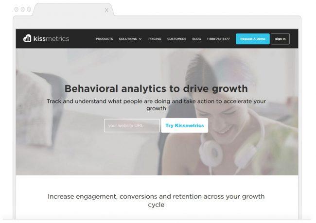 web analytics tools- Kissmetrics