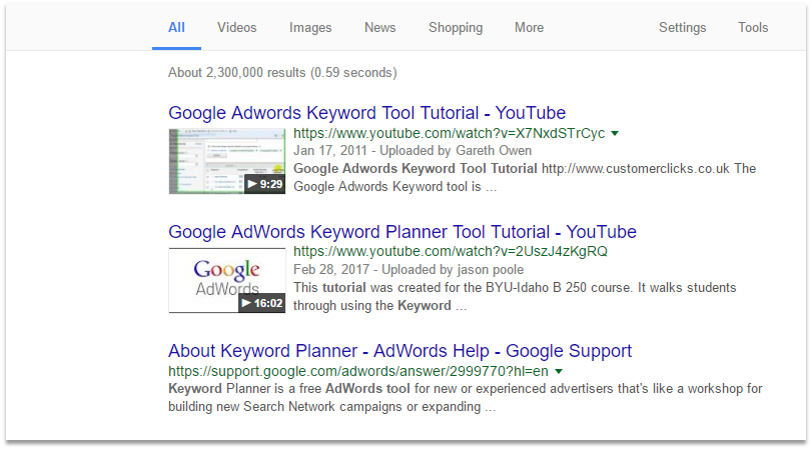 Off-Page SEO Techniques Video Marketing Example Results
