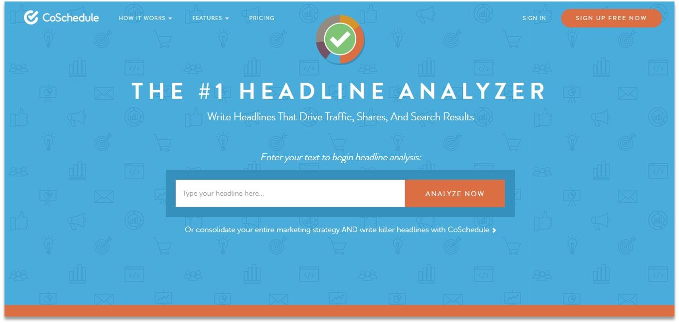 Coschedule Headline Analyzer blogging tools for beginners