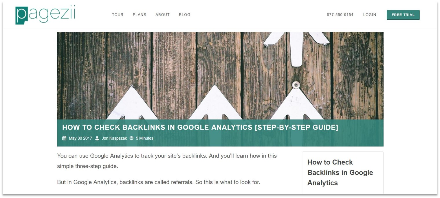 How do backlinks help SEO blog post example