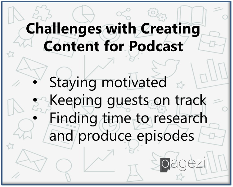 Challenges with creating content for Podcast-Pagezii