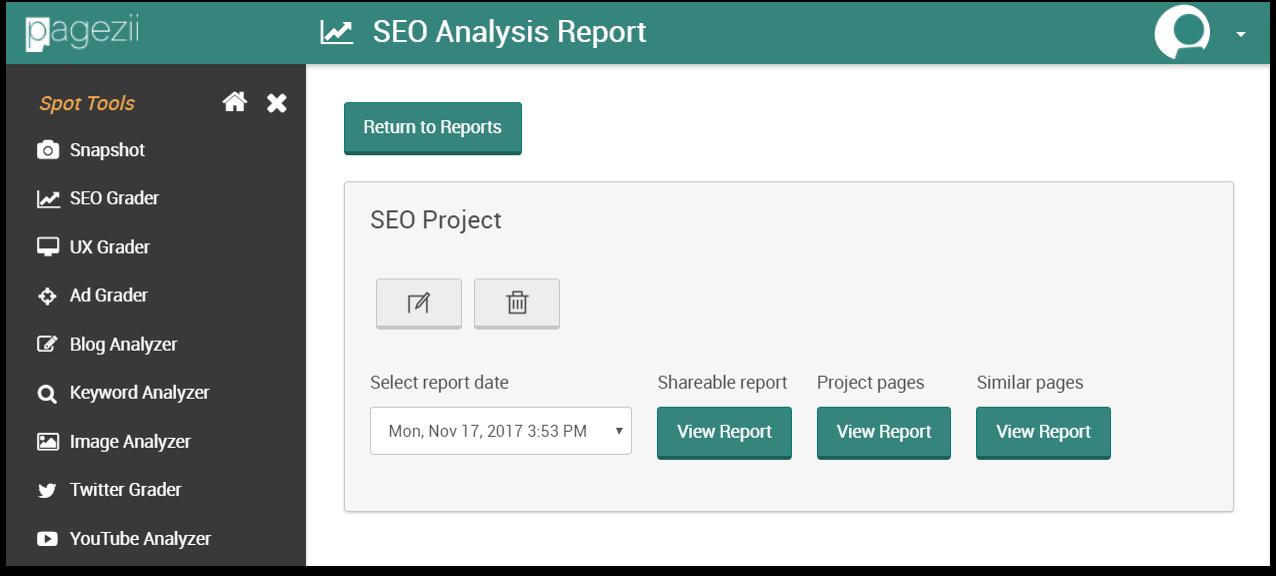 SEO Scoring Reports